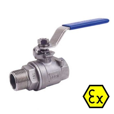 2 Piece Stainless Steel Ball Valve Male/Female BSPP