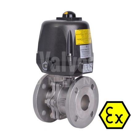 ATEX 90D Electric Actuated PN40 Ball Valve