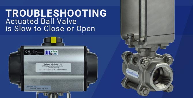 Troubleshooting - Actuated Ball Valve Is Slow To Close Or Open