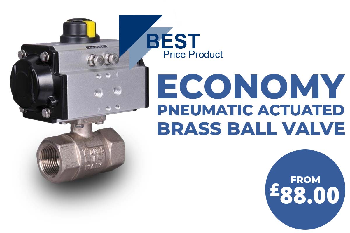 Economy actuated brass ball valves