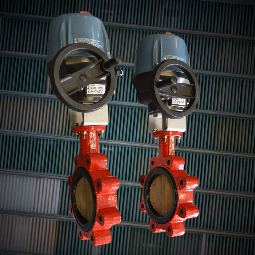 ATEX electric actuated lugged butterfly valve