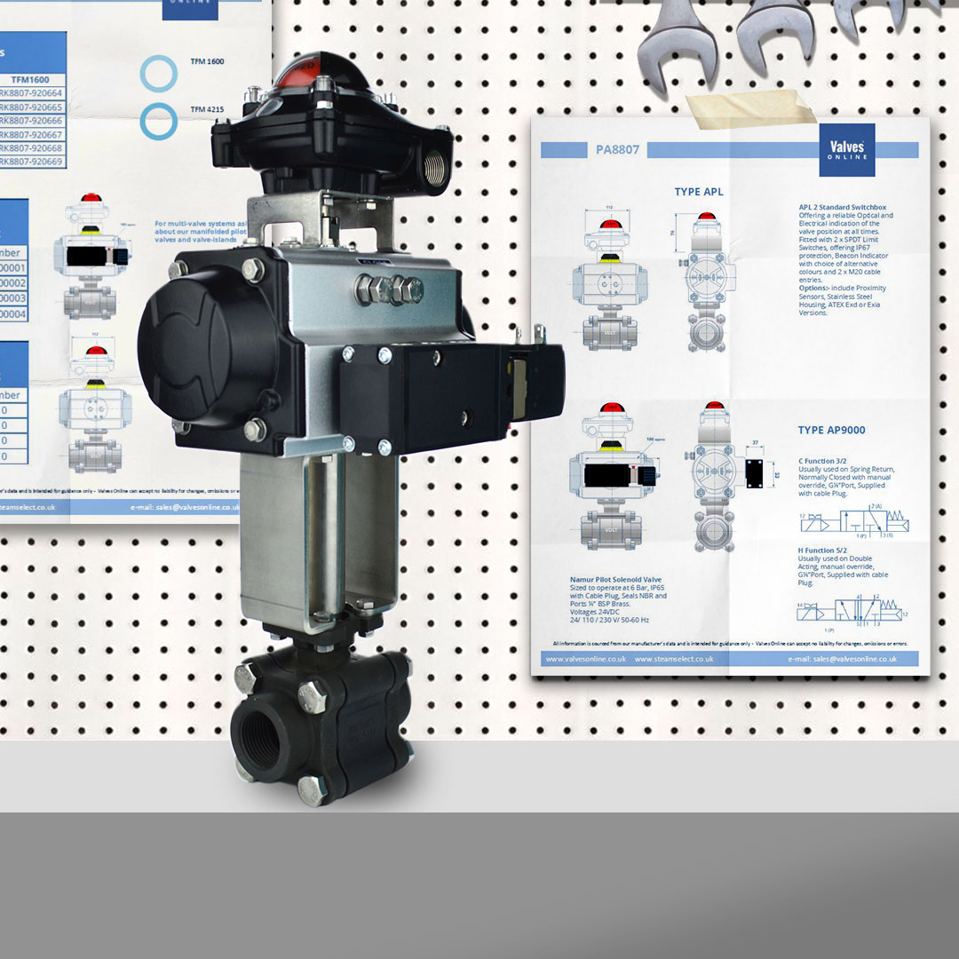 Actuated Carbon Steel Ball Valve with Solenoid and Switchbox